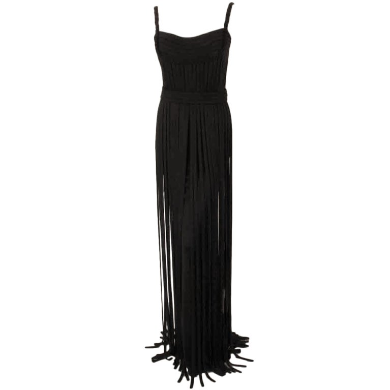 "Elizabeth Mason Couture Black ""No Strings Attached"" Gown size 4 1"