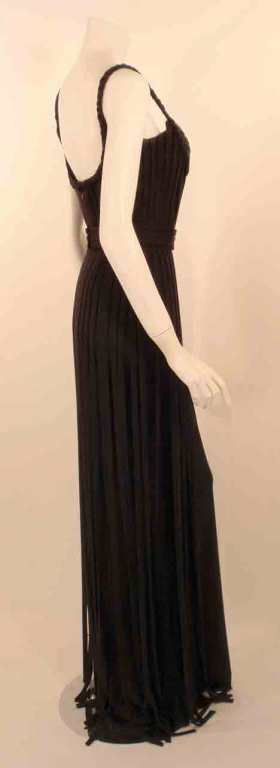 "Elizabeth Mason Couture Black ""No Strings Attached"" Gown size 4 5"