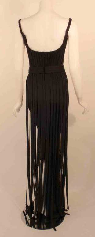 "Elizabeth Mason Couture Black ""No Strings Attached"" Gown size 4 6"