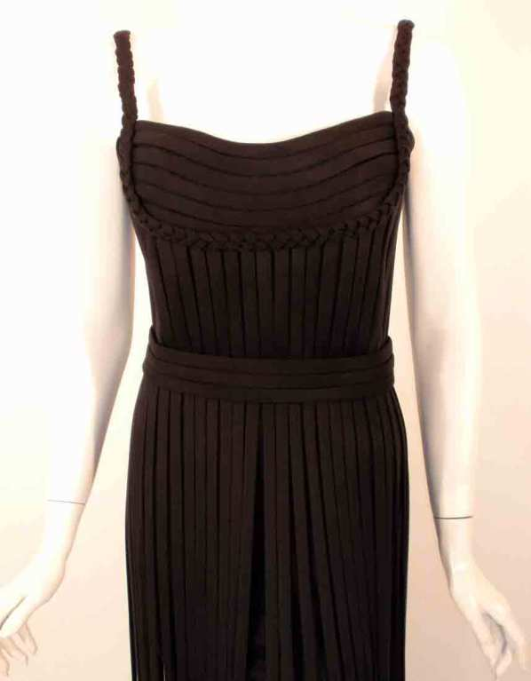 "Elizabeth Mason Couture Black ""No Strings Attached"" Gown size 4 7"