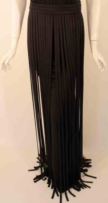 "Elizabeth Mason Couture Black ""No Strings Attached"" Gown size 4 8"