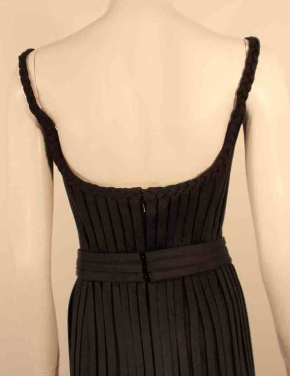 "Elizabeth Mason Couture Black ""No Strings Attached"" Gown size 4 9"