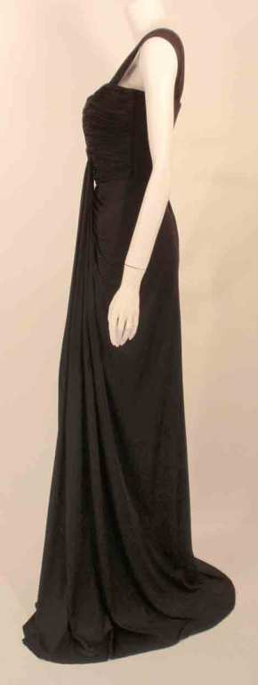 "Elizabeth Mason Couture Black Silk Jersey ""Uta"" Gown 4"