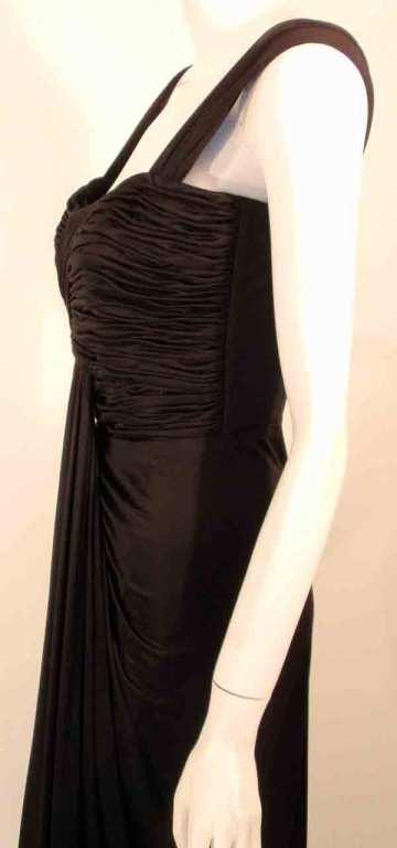 "Elizabeth Mason Couture Black Silk Jersey ""Uta"" Gown 8"