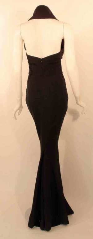 Elizabeth Mason Couture Black Silk Doupioni 'Maria' Gown Made-to-Measure 5