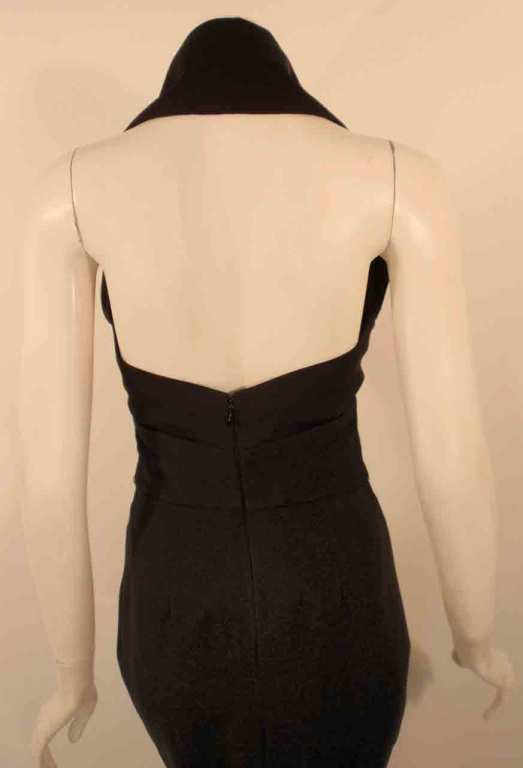 Elizabeth Mason Couture Black Silk Doupioni 'Maria' Gown Made-to-Measure 7