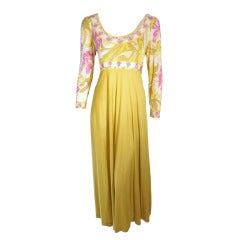 Pucci Long Sleeve Gown