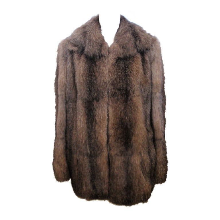 Fendi Sable Fur Coat at 1stdibs