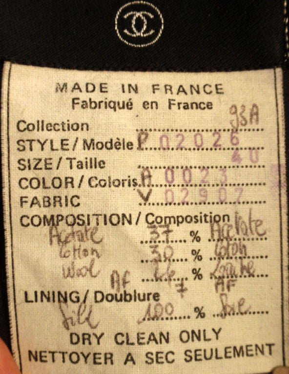 Women's Chanel Classic Black, Gray, and White Tweed Jacket, Circa 1990 For Sale