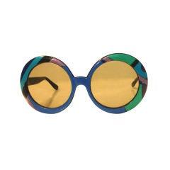 Emilio Pucci Large Signature Print Sunglasses, Circa 1970