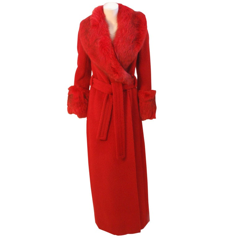 James Galanos Full Length Maxi Coat From The 1970S At 1Stdibs-1973