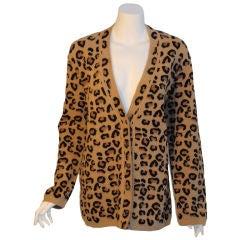 Alaia Oversize Leoprd Sweater, Circa 1990