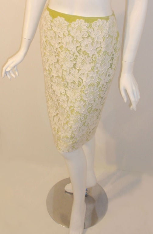 Bob Mackie 2pc Lace Embroidered Jacket and Skirt Set, Circa 1980's For Sale 4