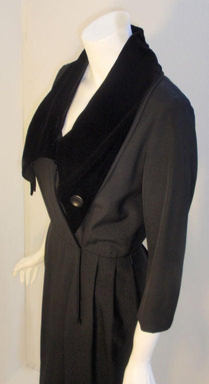 Christian Dior Black Dress with Black Velvet Collar, Circa 1960 6