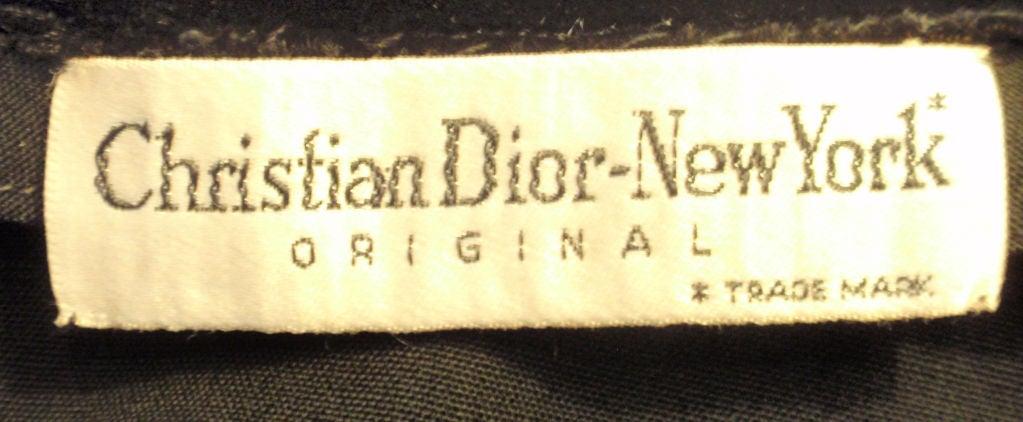 Christian Dior Black Dress with Black Velvet Collar, Circa 1960 9