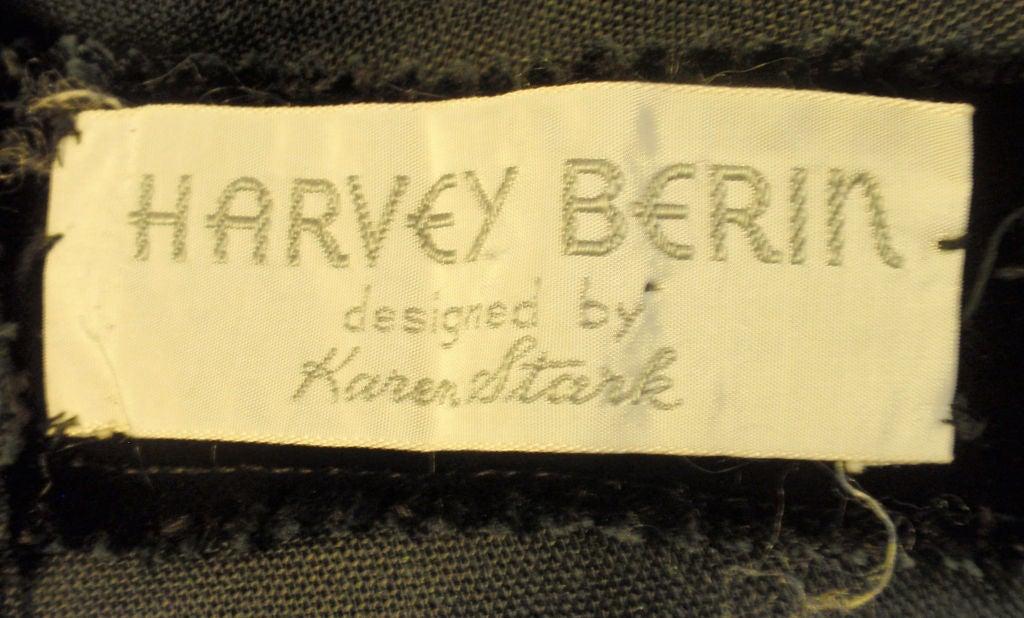Harvey Berin Black Velvet Cocktail Dress with Silk Ribbons, 1960's For Sale 3
