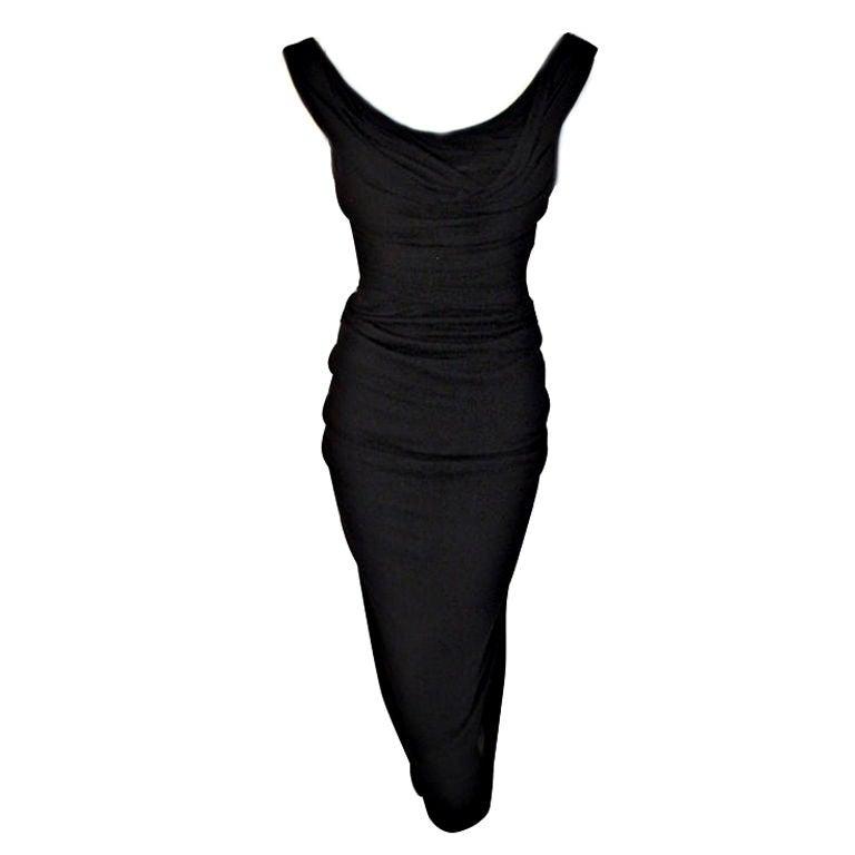 1ded941e4d8 Ceil Chapman (Attributed) Vintage Black Cocktail Dress