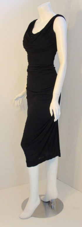 Ceil Chapman (Attributed) Vintage Black Cocktail Dress, 1940 2