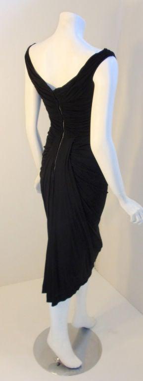 Ceil Chapman (Attributed) Vintage Black Cocktail Dress, 1940 3