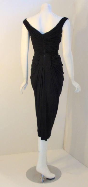 Ceil Chapman (Attributed) Vintage Black Cocktail Dress, 1940 4