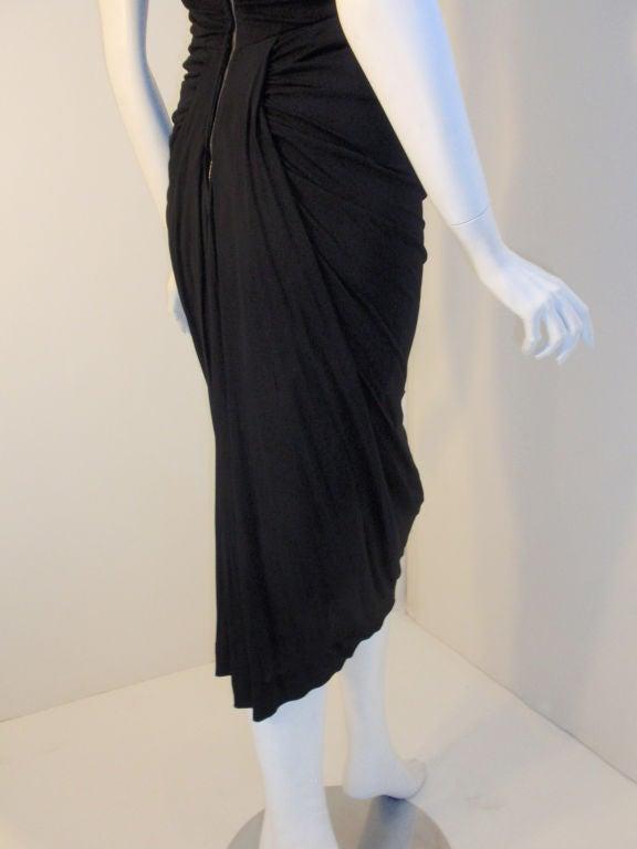 Ceil Chapman (Attributed) Vintage Black Cocktail Dress, 1940 6