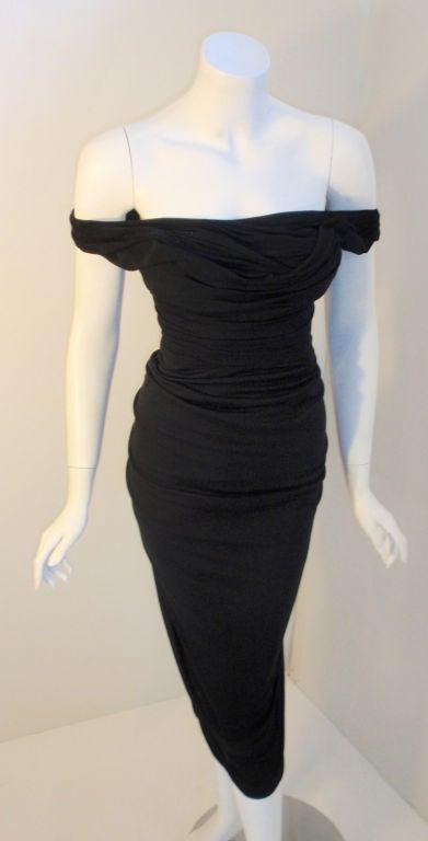 Ceil Chapman (Attributed) Vintage Black Cocktail Dress, 1940 7