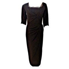 Dorthy O'Hara Vintage Black Cocktail Dress, Circa 1940