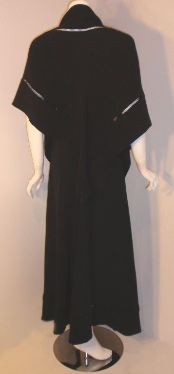 Christian Dior Haute Couture 2pc Black Gown w/Shawl, Betsy Bloomingdale 1970s For Sale 1