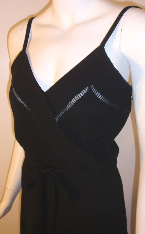 Christian Dior Haute Couture 2pc Black Gown w/Shawl, Betsy Bloomingdale 1970s For Sale 6