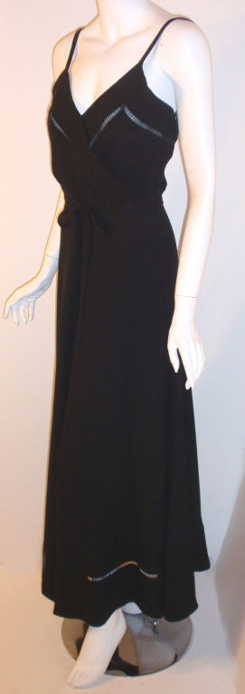Christian Dior Haute Couture 2pc Black Gown w/Shawl, Betsy Bloomingdale 1970s For Sale 3