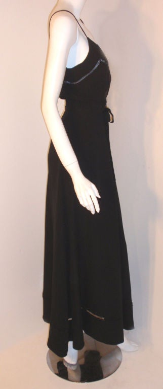 Christian Dior Haute Couture 2pc Black Gown w/Shawl, Betsy Bloomingdale 1970s For Sale 4