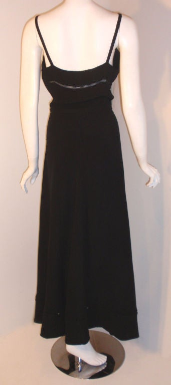 Christian Dior Haute Couture 2pc Black Gown w/Shawl, Betsy Bloomingdale 1970s For Sale 5