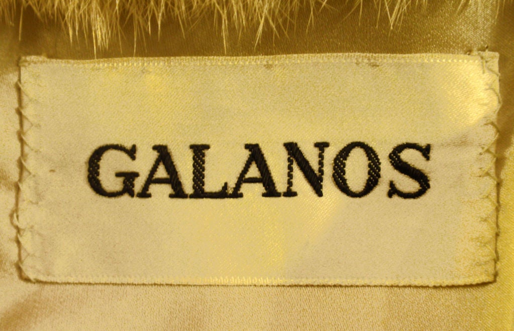 Galanos late 1960s full Length White Mink Coat with Toggle Self Belt 6