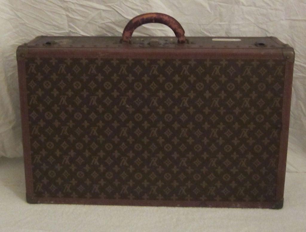 L.Vuitton Brown Monogram Hard Back/Trunk Suit Case, Circa 1948 3