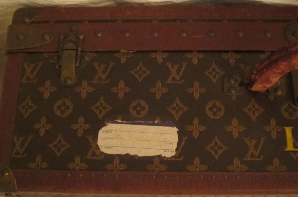 L.Vuitton Brown Monogram Hard Back/Trunk Suit Case, Circa 1948 4