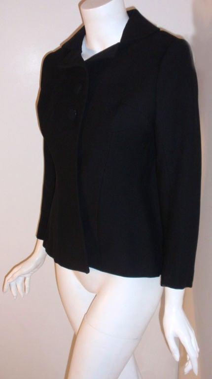 Women's Charles James Rare Black Wool Blazer, Circa 1940 For Sale
