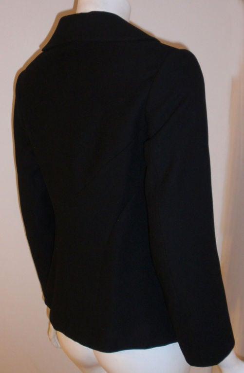Charles James Rare Black Wool Blazer, Circa 1940 For Sale 2