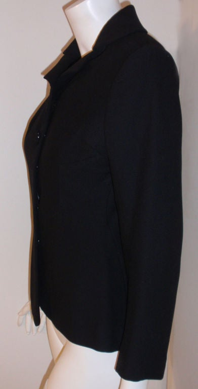 Charles James Rare Black Wool Blazer, Circa 1940 For Sale 3
