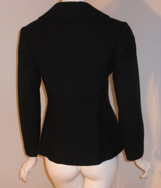 Charles James Rare Black Wool Blazer, Circa 1940 For Sale 5