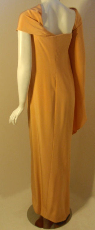 GIVENCHY HAUTE COUTURE  Long Golden Silk Gown of the late Betsy Bloomingdale 6