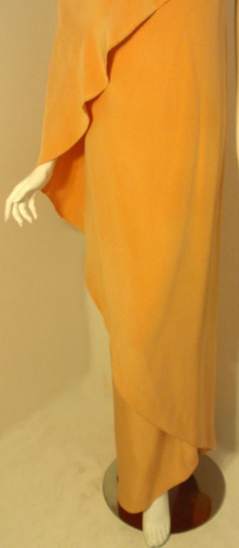 GIVENCHY HAUTE COUTURE  Long Golden Silk Gown of the late Betsy Bloomingdale 10