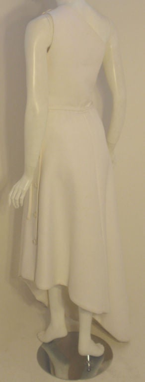 Women's Givenchy Long White One Shoulder Gown, Circa 1970's Betsey Bloomingdale For Sale