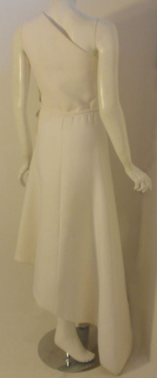 Givenchy Long White One Shoulder Gown, Circa 1970's Betsey Bloomingdale For Sale 1