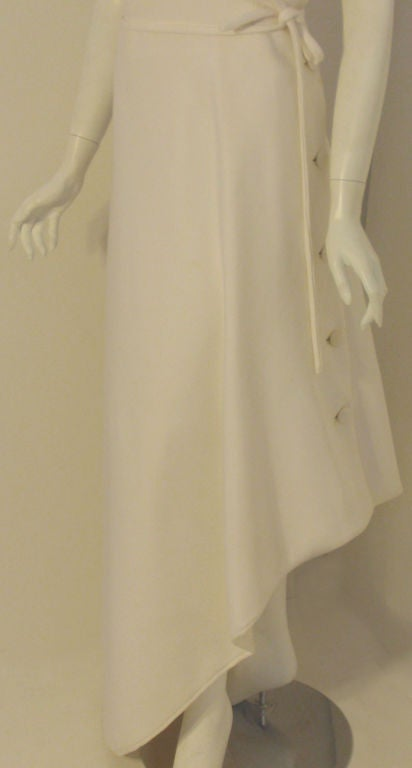 Givenchy Long White One Shoulder Gown, Circa 1970's Betsey Bloomingdale For Sale 5
