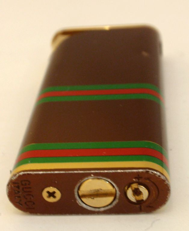 Gucci Vintage Signature Gold Stripped Lighter Circa At Stdibs - How to create paypal invoice gucci outlet online store authentic