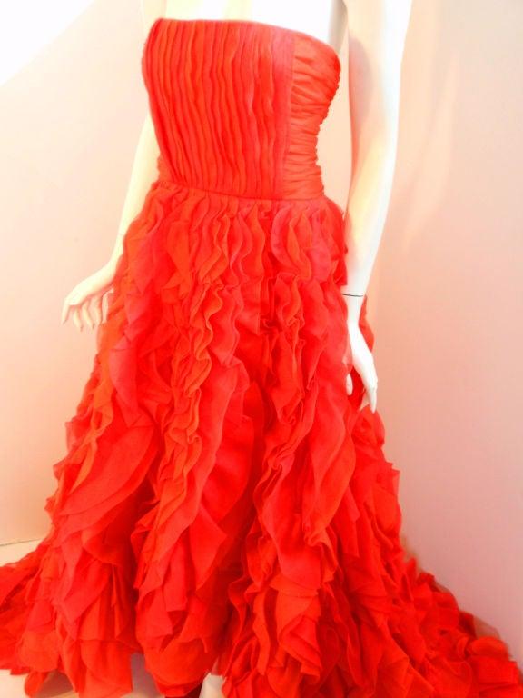Oscar De La Renta layered organza gown 5