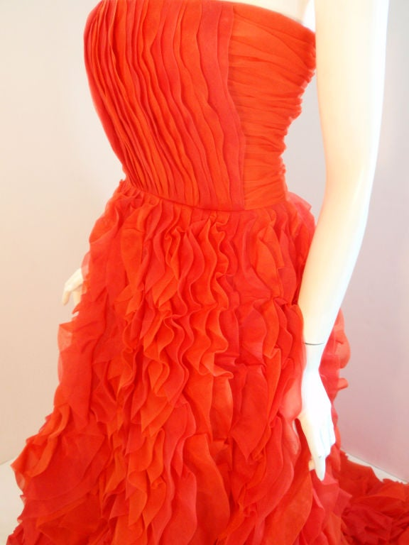 Oscar De La Renta layered organza gown 6