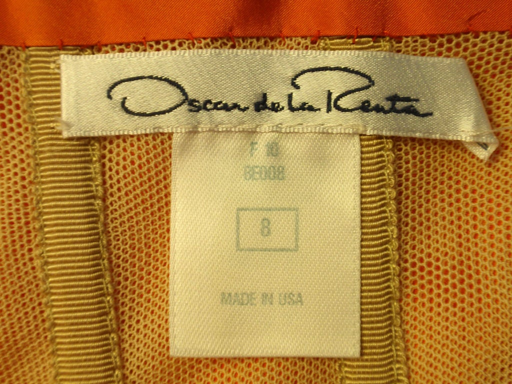 Oscar De La Renta layered organza gown 10