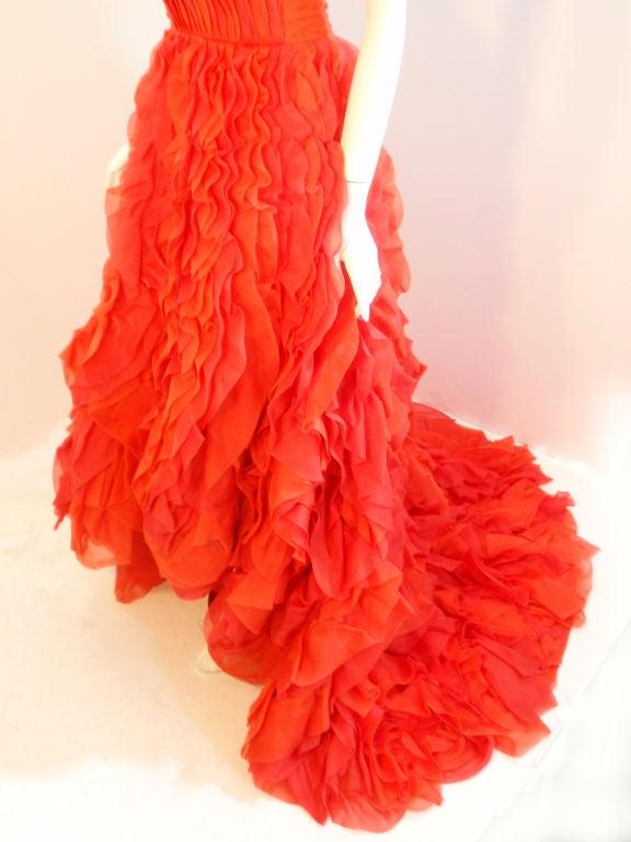 Oscar De La Renta layered organza gown 7
