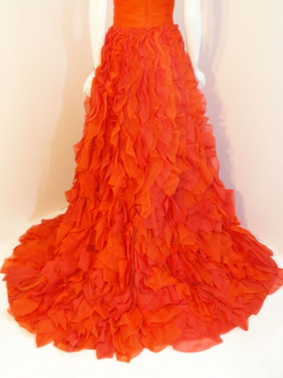 Oscar De La Renta layered organza gown 8